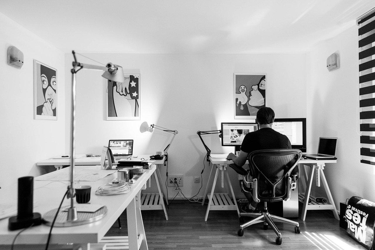 style industriel pour l'aménagement d'un bureau